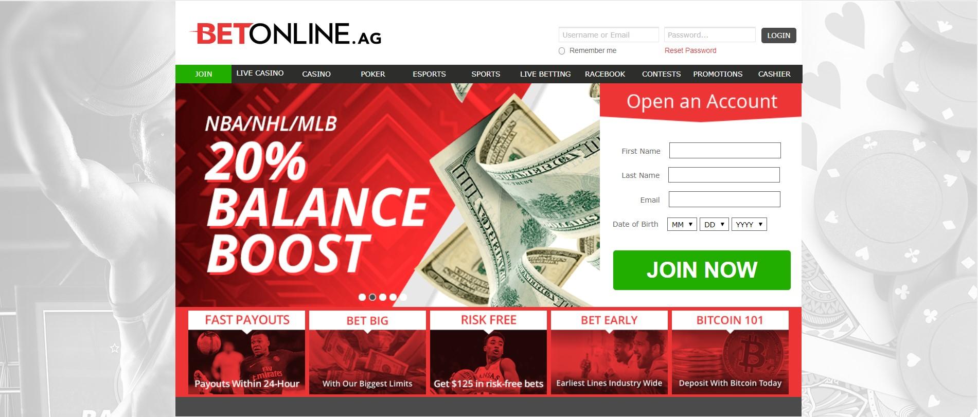 BetOnline balance boost