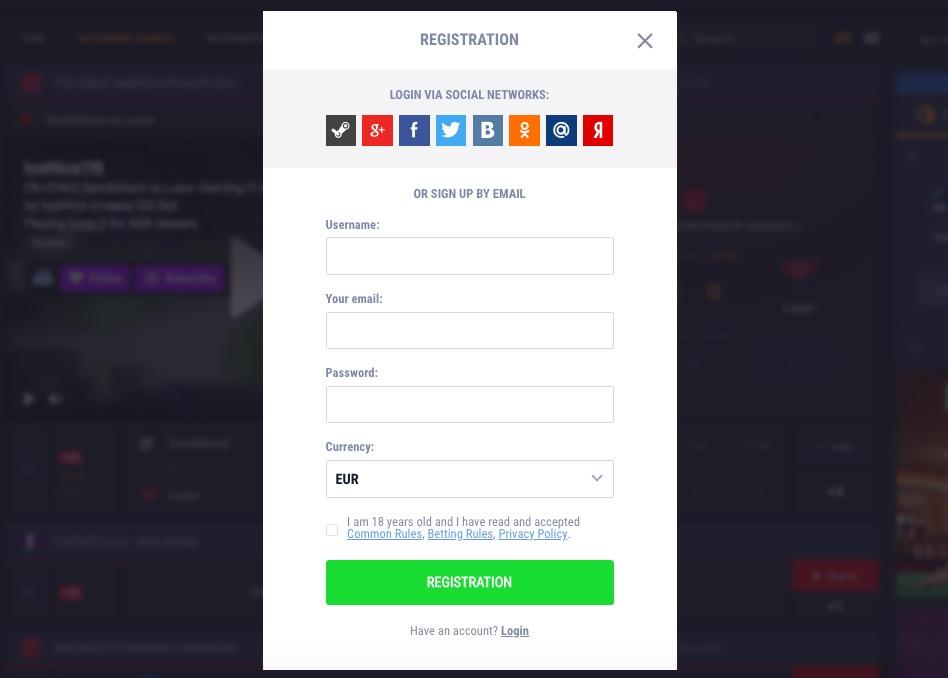 GG.bet registration