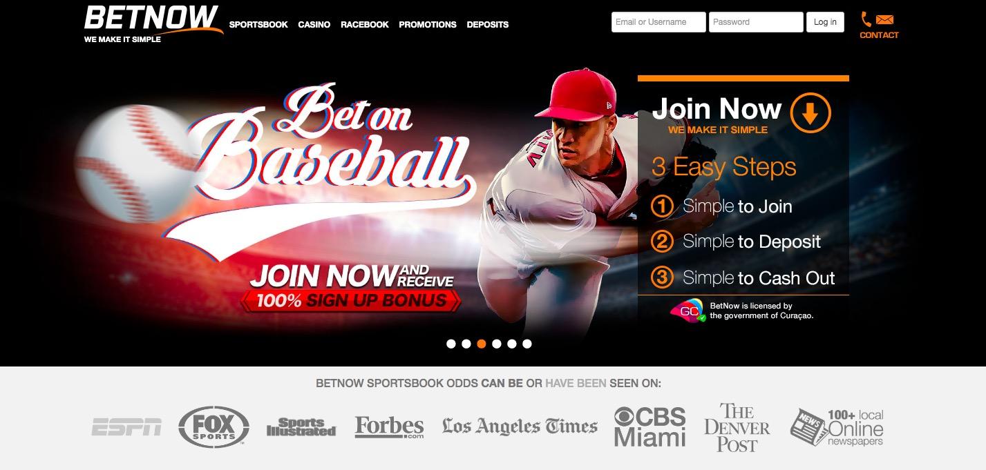 Betnow main page