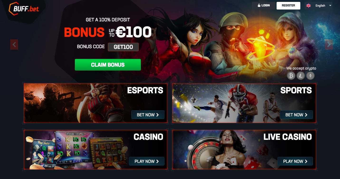 BuffBet main page